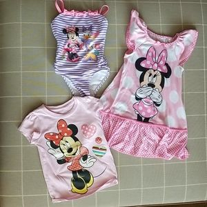 Minnie Mouse Swim, Nightgown and T-Shirt